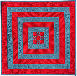 Square in Square I (a miniature quilt)